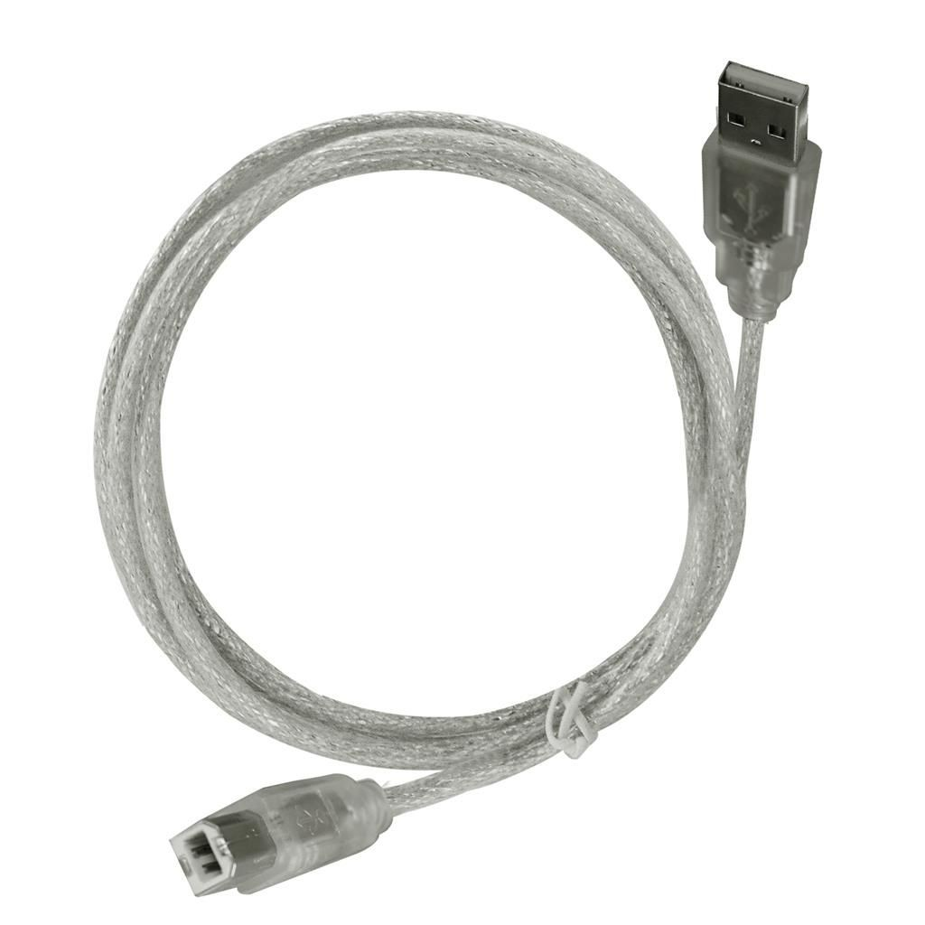 Vakoss MSONIC Kabel do drukarki USB 2.0 A-B M/M 1,8m MLU1218NT bezbarwny