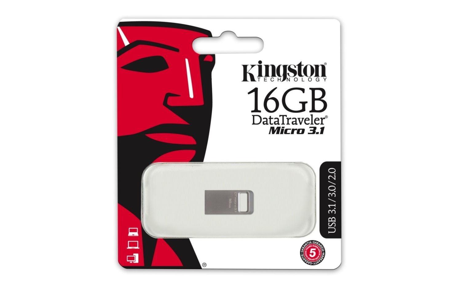 Kingston Pendrive (Pamięć USB) 16 GB USB 3.0 Srebrny
