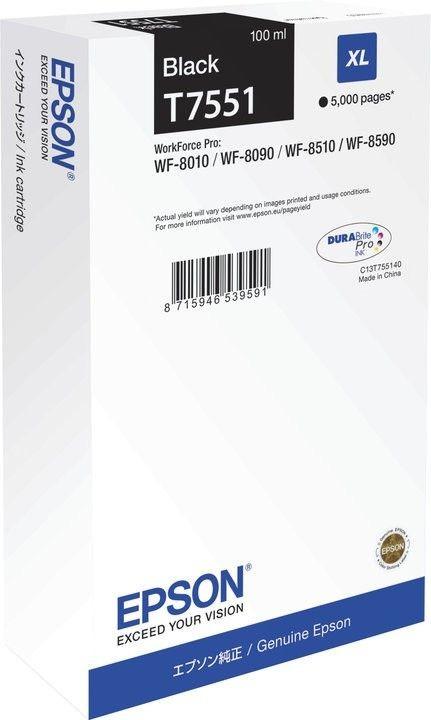 Epson Tusz T7551 black XL | WF-8010/WF-8090/WF-8510/WF-8590