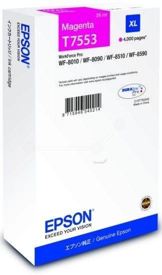 Epson Tusz T7553 Magenta XL | WF-8010/WF-8090/WF-8510/WF-8590
