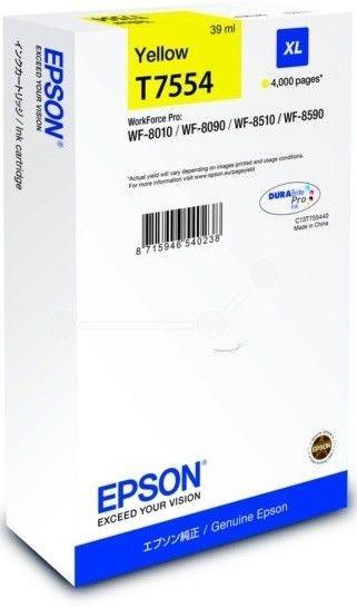 Epson Tusz T7554 Yellow XL | WF-8010/WF-8090/WF-8510/WF-8590
