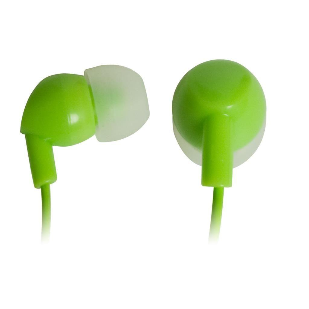 Vakoss Słuchawki stereo douszne, silikonowe ZIELONE