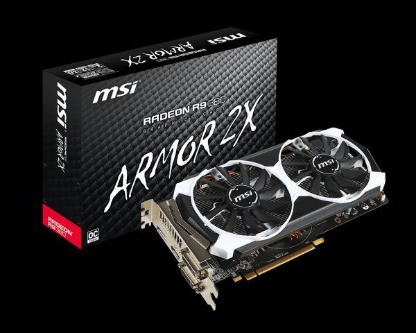 MSI KARTA PCI-E 2048MB RADEON R9 380 OC 256bit DDR5 2xDVI/HDMI/DP retail /MSI