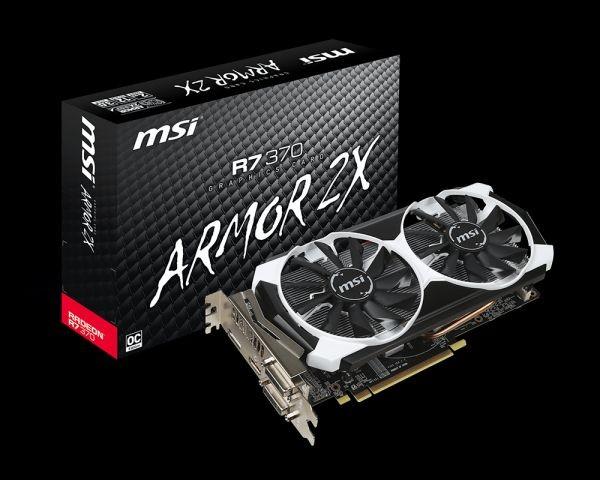 MSI KARTA PCI-E 2048MB RADEON R7 370 OC 256bit DDR5 2xDVI/HDMI/DP retail /MSI