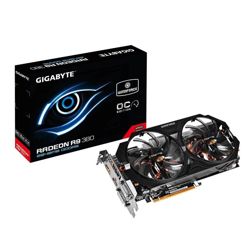 Gigabyte AMD Radeon R9 380 OC 2GB DDR5 PX 256bit 2xDVI/HDMI/DP