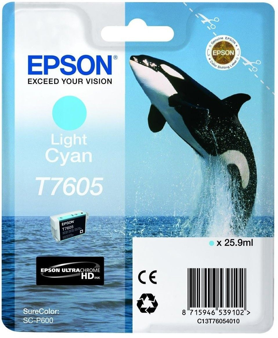 Epson Tusz Singlepack Light Cyan | SureColor SC-P600