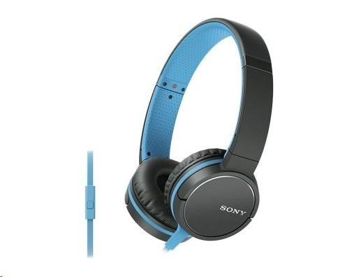 Sony MDR-ZX660APL Headband/On-Ear, Microphone, Black/Blue