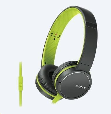 Sony Słuchawki Sony nauszne MDR-ZX660AP + mikrofon (zielone)