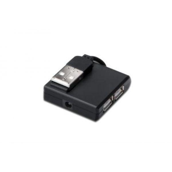 Digitus HUB - Koncentrator USB2.0 4x USB A/Ż - 1x USB A/M, zasil. pasywny czarny