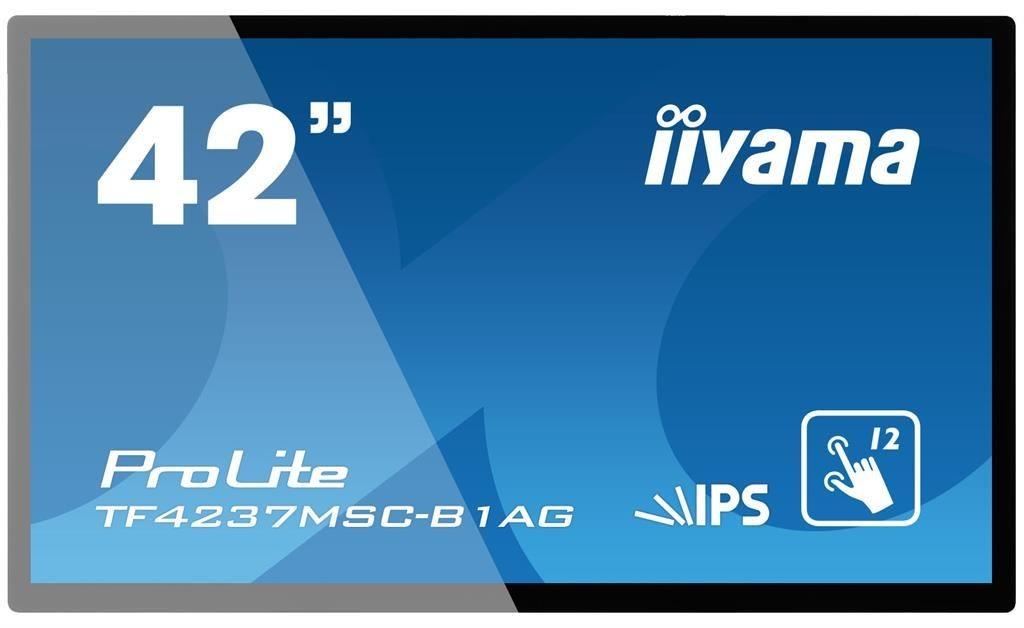 iiyama Monitor IIyama TF4237MSC-B1AG 42inch, IPS touchscreen, Full HD, VGA, DVI-D, HDMI