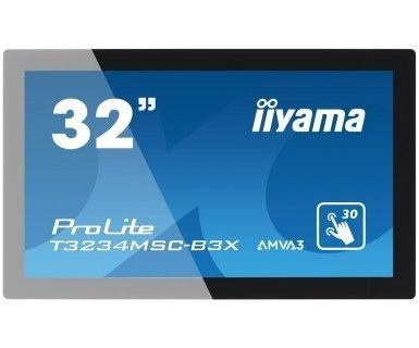 iiyama Monitor IIyama T3234MSC-B3X 32inch, AMVA touchscreen, Full HD, VGA, DVI-D, USB