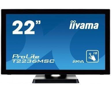 iiyama Monitor IIyama T2236MSC-B2 21.5inch, AMVA touchscreen, Full HD, VGA, DVI-D, HDMI