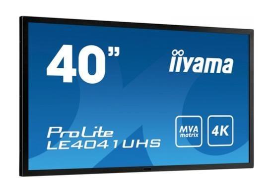 iiyama Monitor IIyama LE4041UHS-B1 40inch, panel MVA, 4K, D-SUB/DVI-D/HDMIx2/DP
