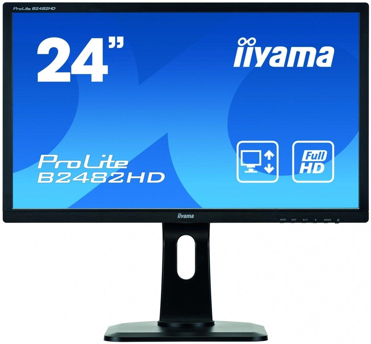 iiyama Monitor B2482HD-B1 23.6, VGA, DVI-D