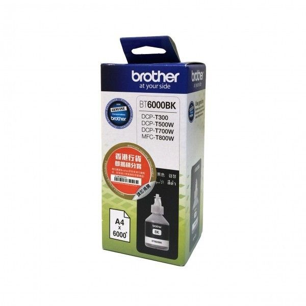 Brother Tusz BT6000BK black | 6 000str | DCPT300 / DCPT500W / DCPT700W