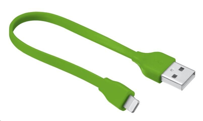 Trust UrbanRevolt Flat Lightning Cable 20cm - lime green