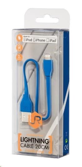 Trust Flat Lightning Cable 20cm - blue