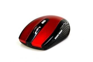 Media-Tech RATON PRO - Bezprzewodowa mysz optyczna, 1200 cpi, 5 przycisków, kolor czerwony