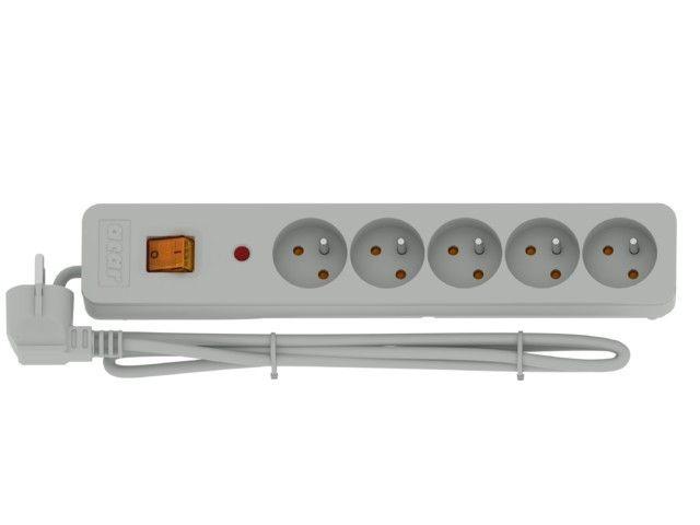 HSK Listwa przeciwprzepięciowa X5 3m szara