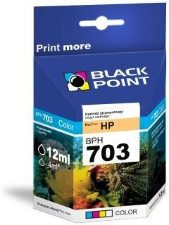 Black Point Tusz Black Point BPH703 | Color | 12ml | HP CD888AE