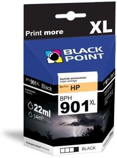 Black Point Tusz Black Point BPH901XL | Black | 22 ml | HP CC653AE