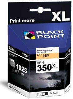 Black Point Tusz Black Point BPH350XL | Black | 32 ml | 1025 str. | HP CB336
