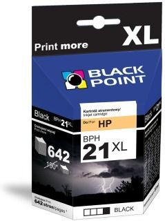 Black Point Tusz Black Point BPH21XL | Black | 22 ml | 820 str. | HP C9351