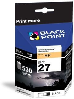 Black Point Tusz Black Point BPH27 | Black | 20 ml | 530 str. | HP C8727