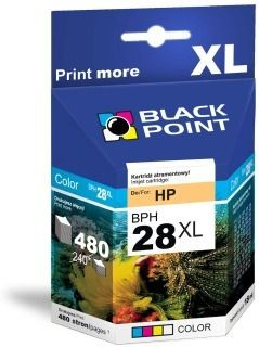 Black Point Tusz Black Point BPH28XL | Color | 18 ml | 480 str. | HP C8728