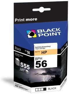 Black Point Tusz Black Point BPH56 | Black | 19ml | 555 str. | HP C6656