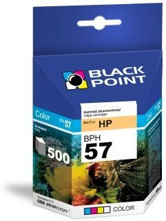 Black Point Tusz Black Point BPH57 | Color | 17 ml | 500 str. | HP C6657