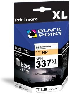 Black Point Tusz Black Point BPH337XL | Black | 22 ml | 835 str. | HP C9364