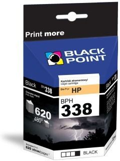 Black Point Tusz Black Point BPH338 | Black | 22 ml | 620 str. | HP C8765