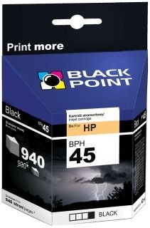 Black Point Tusz Black Point BPH45 | Black | 42 ml | 940 str. | HP 51645