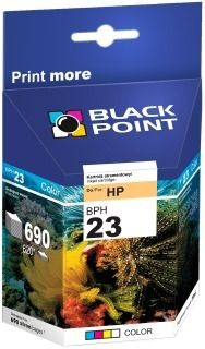Black Point Tusz Black Point BPH23 | Color | 39 ml | 690 str. | HP C1823