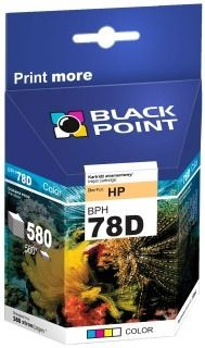 Black Point Tusz Black Point BPH78D | Color | 19 ml | 580 str. | HP C6578D