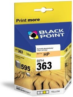 Black Point Tusz Black Point BPH363Y | Yellow | 10 ml | 595 str. | HP C8773