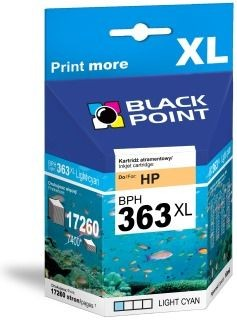 Black Point Tusz Black Point BPH363LC | Light cyan | 10 ml | 17260 str. | HP C8774