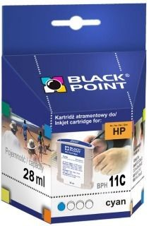 Black Point Tusz Black Point BPH11C | Cyan | 28 ml | 2510 str. | HP C4836