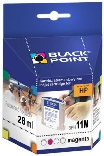 Black Point Tusz Black Point BPH11M | Magenta | 28 ml | 2260 str. | HP C4837