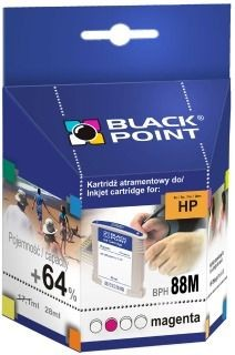 Black Point Tusz Black Point BPH88M | Magenta | 28 ml | 2728 str. | HP C9392