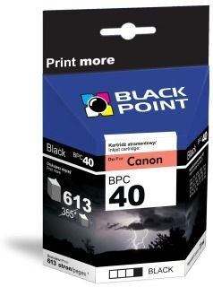 Black Point Tusz Black Point BPC40 | Black | 21ml | 613 str. | Canon PG-40
