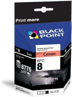 Black Point Tusz Black Point BPC8BK | Black | Chip | 14 ml | Canon CLI-8BK