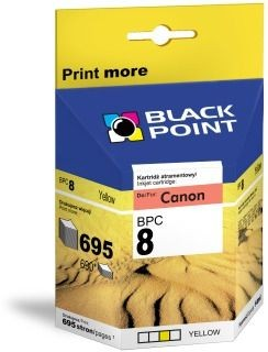 Black Point Tusz Black Point BPC8Y | Yellow | chip | 14ml | 695 str. | Canon CLI-8Y