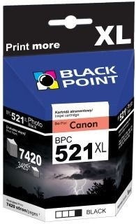 Black Point Tusz Black Point BPC521BK | Photo black | chip | 7420 str. | Canon CLI-521BK