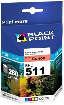 Black Point Tusz Black Point BPC511 | Color | 12,5 ml | Canon CL-511