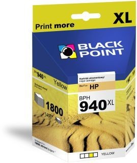 Black Point Tusz Black Point BPH940XL | Yellow | 28 ml | 1800 str. | HP C4909AE