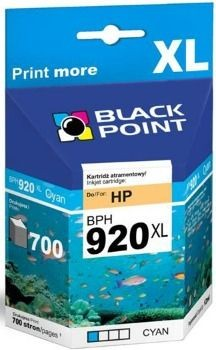 Black Point Tusz Black Point BPH920XL | Cyan | 12 ml | 700 str. | HP CD972AE