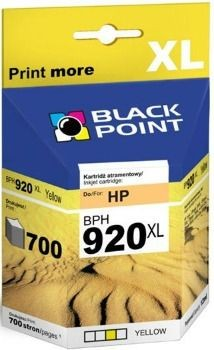 Black Point Tusz Black Point BPH920XL | Yellow | 12 ml | 700 str. | HP CD974AE