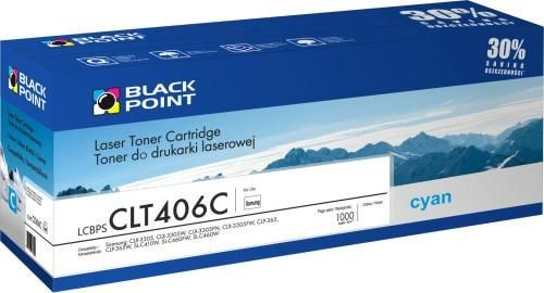 Black Point Toner Black Point LCBPSCLT406C | cyan | 1000 str. | Samsung CLT-C406S